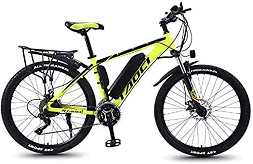 Electric Bike Electric Mountain/Universal Bike, 26-inch 27-Speed Bicycle with Removable Lithium-ion Battery (36V 350W 8Ah) Dual disc Brake Bicycle, Adult Riding Exercise Bike, Yellow