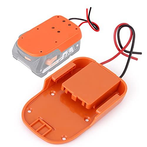 Power Wheels Battery Adapter for Ridgid AEG 18V Hyper li-ion Battery DIY Dock Power Connector Battery Converter 12 Gauge Robotics for RC Toy Car Truck,e-bike