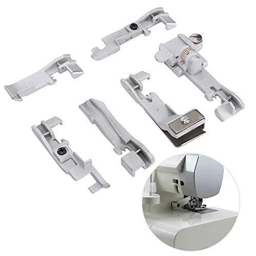 Juego de pies prensatelas para máquina Overlock de 6 piezas, juego de prensatelas para coser, SINGER 14U 14CG754 14SH654, accesorio para máquina de coser