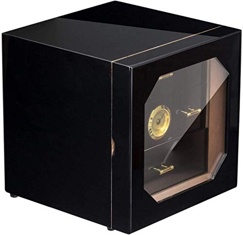 QHHALXZ Humidor cigarro Humidor Cigar Temperatura Constante Gabinete de cigarro, Caja de almacenamiento de cigarros de gran capacidad con 3 cajones, Humidor de escritorio