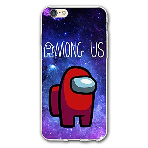 Among Us- Carcasa para iPhone 6/6s Plus, transparente, talla única