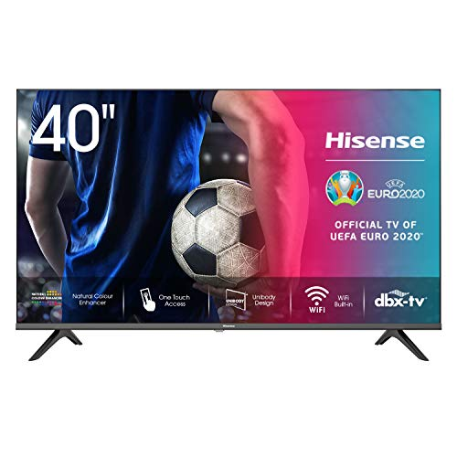 Hisense 40AE5500F - Smart TV, Resolución Full HD, Natural Color Enhancer, Dolby Audio, Vidaa U 2.5 con IA, HDMI, USB, Salida...