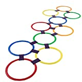 Rayuela Anillo Que Juega Juega 10 Multicolor De Anillos De Plástico Y 9 Conectores Para Uso En Interiores O Al Aire Libre, La Diversión Creativa Set De Juegos Para Niñas Y Niños