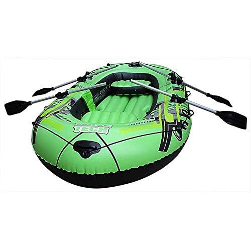 LLSZ 3 Personas Inflable Tandem Kayak de Aguas bravas con Alta presión Piso y Asientos Acolchados con Respaldo Alto textuales, Incluye Leva de la acción del Montaje, Aluminio paletas, Bomba y Más