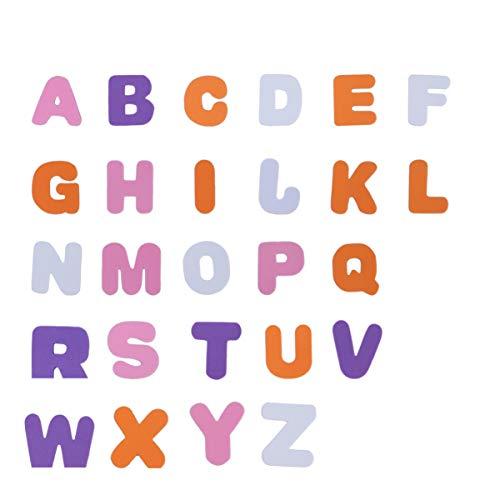 Supvox 150 Stück Schaumstoff-Buchstabenaufkleber mehrfarbige haltbare selbstklebende Schaumstoff-Buchstaben 4 * 4 cm Schaumstoff-Alphabet für Kindergartenkinder zum Basteln