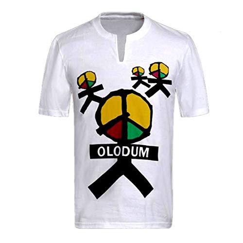 Herren T-Shirt Michael Jackson Shirt Anti-Krieg Beat Klavier Baumwolle Tee Kurzarmshirt Erwachsene und Kinder Weiß Men T-Shirt (Olodum, Kind:50-55kg)…
