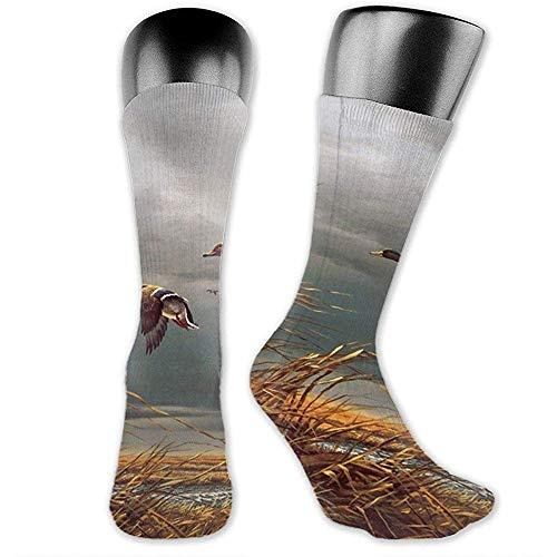 lucies Fashion Socke Mallard Ducks Fly In Sky Family1; Herren Crew Socken 40 CM