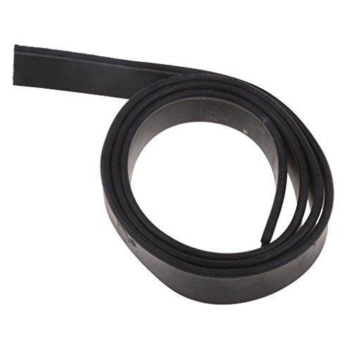 F Fityle Limpiador de Ventanas Limpiador de Repuesto de Ventanas Limpiacristales de Goma para Ventanas - Negro-105cm