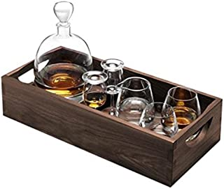 LSA International Whisky Islay Connoisseur Set & Walnut Tray, 17.5