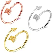 Long tiantian Arrow Rings for Teen Girls Simple Adjustable Rings Set for Women