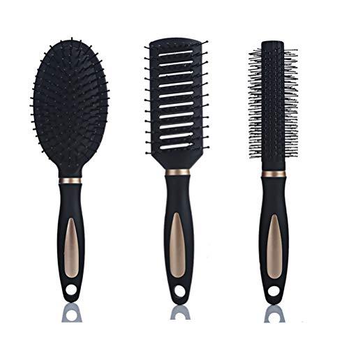 MIFASA Peigne de Massage, Ensemble de Brosse à Cheveux Brosse à Cheveux à Palette Brosse à Cheveux Professionnelle pour Tous Les Types de Cheveux 3Pcs