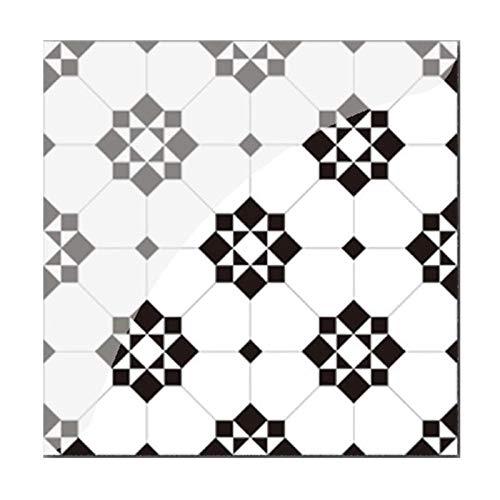 Byrhgood 19 unids Mosaico azulejo Pegatina de Pared PVC Impermeable Azulejos calcomanías Adhesivo Pared Muebles Pegatina Cocina Cintura línea de Cocina decoración de Cocina (Color : YCZ005)