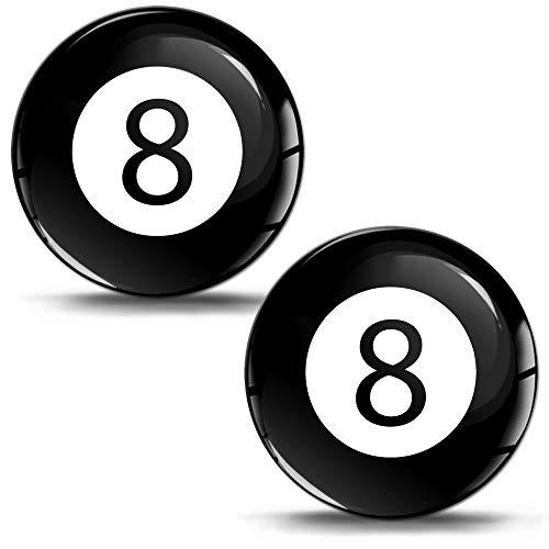 SkinoEu® 2 x 30mm 3D Gel Silicona Stickers Pegatinas Adhesivo Billiard Ball...
