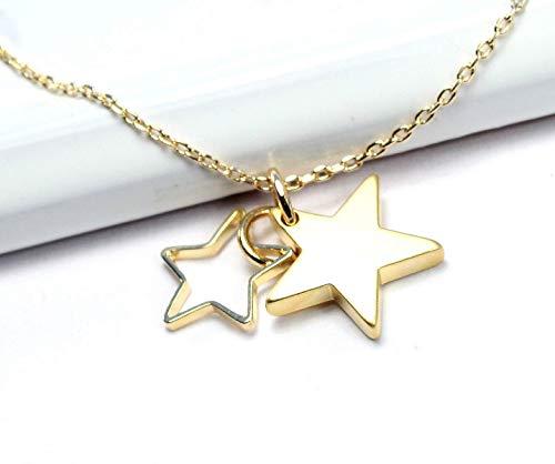Sternen - Armband vergoldet Freundschaftsarmband Weihnachtschmuck Muttertag Bettelarmband Sternenanhänger Sternchen