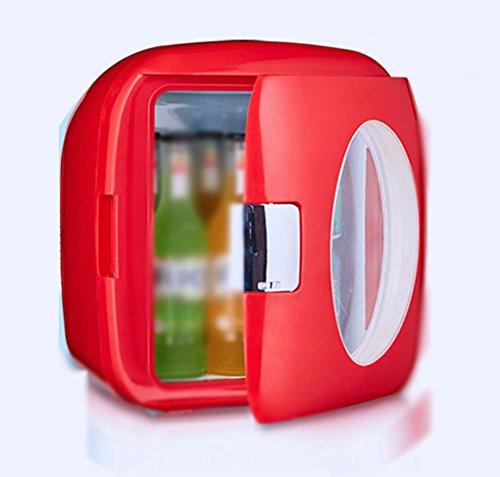 Peaceip Piccolo frigorifero per uso domestico Frigorifero per due persone 9L L32.8CM, W32.3CM, H34.8CM (Color : Rosso)