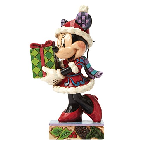 Enesco Disney Tradition Oggetto Decorativo Topolino Babbo Natale, Resina, Multicolore