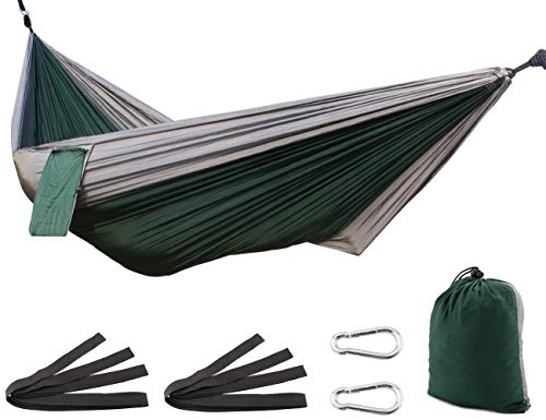 SueH Design Amaca Singola/Doppia Amaca Portatile in Nylon Amaca Traspirante per Campeggio, Escursionista, Saccopelista, Viaggi, Spiaggia, Giardino, ECC.