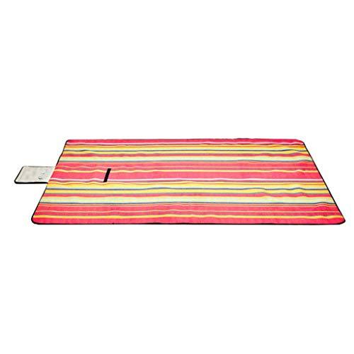 ZHAO YELONG Tapis Portatif De Plage Imperméable De Protection Imperméable À L'humidité De Tapis Imperméable D'épaisseur De Pique-Nique D'extérieur (Couleur : Red, Taille : 200×200cm)