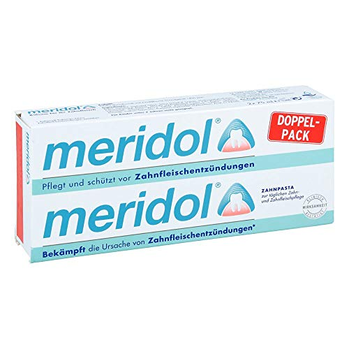 Meridol tandpasta dubbelp 2 x 75 ml
