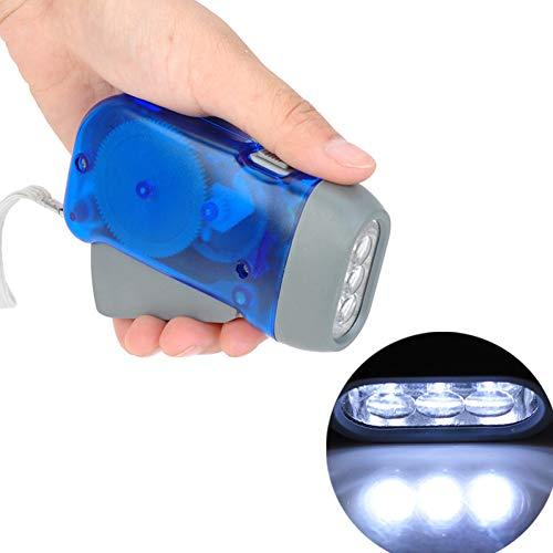 CULER Manivela Travelling Light batería sin Luces de Camping 3 LED Mano presionando Linterna Linterna Manual del generador