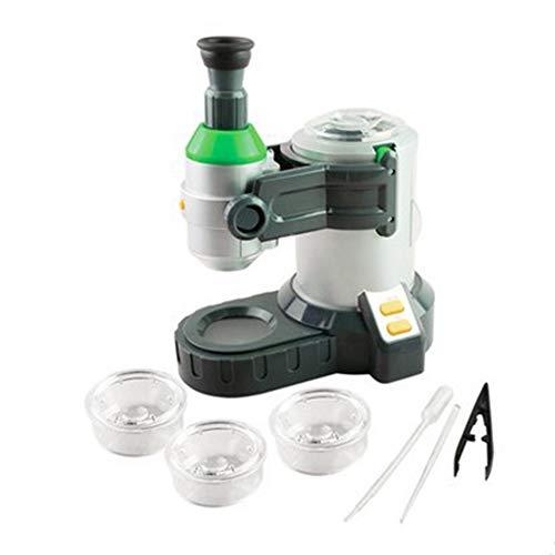 BIUYYY Microscopio para Niños Ciencia Biológica Microscopio Juguete Educativo...