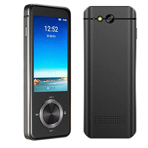 Language Translator Device Support 107 Plus Languages Two Way Offline/WiFi/Hotspot/Bluetooth Portable Voice Translator Device 3.0 inch Touch Screen Camera Translation - Space Gray