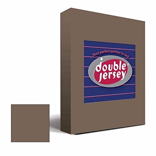 #25 Double Jersey Jersey Spannbettlaken, Spannbetttuch, Bettlaken, 160x200x30 cm, Mocca - 2