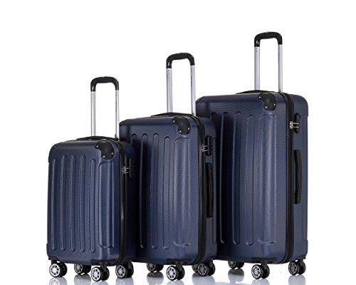 BEIBYE - Juego de maletas azul oscuro
