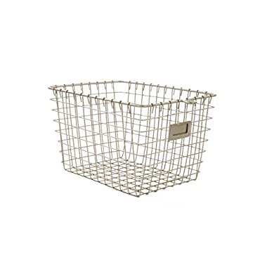 Spectrum Diversified Wire Storage Basket, Small, Satin Nickel