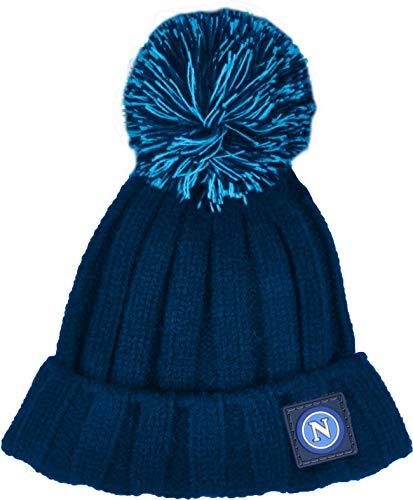 Juventus Cappello con Risvolto Junior Napoli Tinta Unita con PON PON 121410j