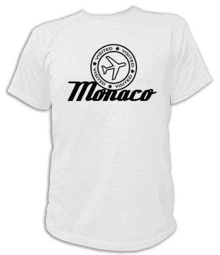 Artdiktat T-Shirt Monaco Visited Unisex, Größe XXXL, weiß
