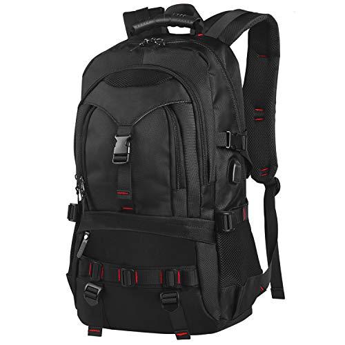 EletecPro Backpack Women Men, Sac à dos pour ordinateur portable avec sac à dos multifonction USB pour hommes Filles Travail, Voyage, Trekking, Shopping, École Attend Anti-vol pour les ordinateurs por