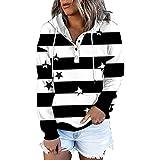 2021 Sudadera con Capucha para Mujer, Moda Manga Larga casual Patchwork Color sólido Sudaderas cremallera Invierno Jersey Otoño Primavera Blusa Cuello en V Tops tumblr Suéter Mujer Abrigo deportiva