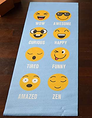 """Bean Products Kid Size Yoga Mat 1/8"""" Thick, 24"""" Wide, 60"""" Long - Non-Toxic - Premium Quality - SGS Certified - No Phthalates or Latex - Non-Skid"""