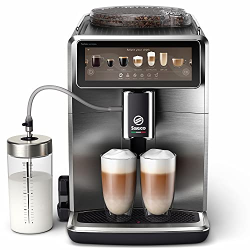 """Saeco Xelsis Suprema w pełni automatyczny ekspres do kawy, kolorowy wyświetlacz dotykowy 7,84"""", z łącznością WiFi, 22 opcje pysznych napojów, 8 profili użytkownika, stal nierdzewna, SM8889/00"""