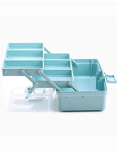 KKCF boîte de rangement de Bureau en Plastique Transparent Multi - Boîtes de Finition Fonctionnels dépenses familiales (Couleur : Blanc, Taille : L(37 * 19 * 18cm))