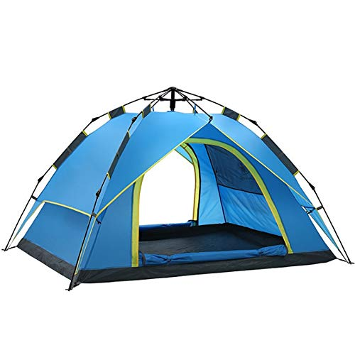 TWDYC Outdoor Waterproof Pop Up Tent 3 Person Quick Up System Fast Pitch Foldable Festival Tent (Color : A)
