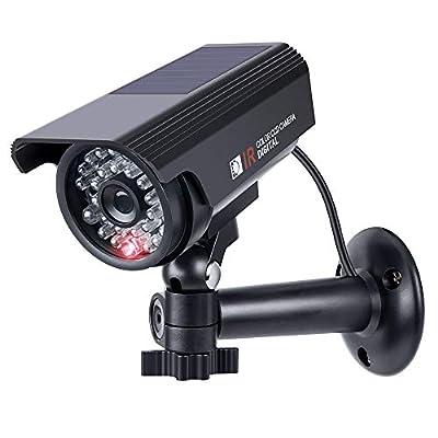 Dummy Fake Surveillance Security Camera OTHWAY Solar Powered CCTV Cameras Realistic Looking Flashing LED Easy Installation