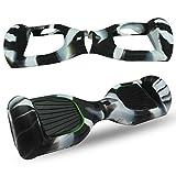 ABBY Protectora Funda de Silicona para 6.5' Smart Scooter Balance Patinete Electrico Hoverboard Cover (Blanco Negro)