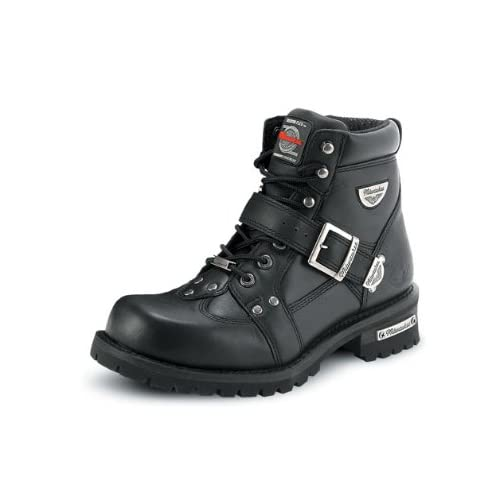 Mens Leather Motorcycle Boots Amazon Com
