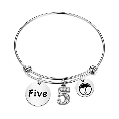 FAADBUK The Umbrella Academy Inspired Gift Number 4 Klaus Fans Gift Number 4 Jewelry (Number 5)