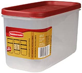 Rubbermaid - Dry Food Storage 10 Cup Clear Base Featuring Graduation Marks Pack of 6