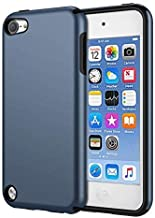KELIFANG Case Compatible with iPod Touch 7, 6 and 5, Ultra Slim Full Body Protective Case with Dual Layer Shockproof TPU Bumper Hard Back Cover Compatible with 7th/6th/5th Generation, Sapphire Blue