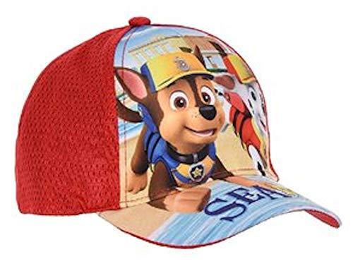 Unbekannt Paw Hunde Patrouille Cap Basecap Mütze Kinder Kappe Schirmmütze (52, rot)
