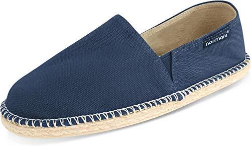 normani Sommerschuhe für Damen | Espadrille mit praktischem Baumwollbeutel Farbe Pacific Deep Blue Größe 39