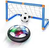 FancyWhoop Hover Balón de Fútbol Air Power Football Disco de Fútbol de Aire Recargable con luz LED Balón de Fútbol Flotante para Interiores...