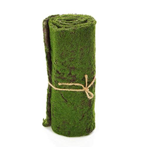 artplants.de Künstliche Rasen Vlies Matte, Moos, grün-braun, 97x29cm - künstliche Moosmatte - Kunst Moos - Dekomoos