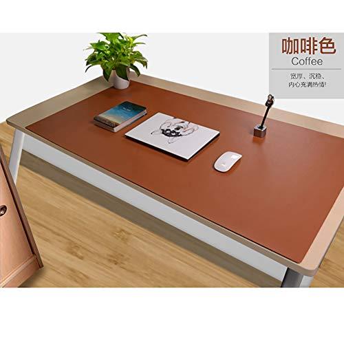 DM&FC Pu Leder Mouse Pad Mat Wasserdicht, Verlängert Office Desk Pad Computer-Tastatur-Mousepad Mit Komfortablen Schreibfläche-braun W70xh35cm(28x14inch)