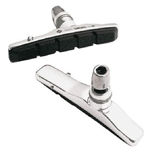 ASHIMA Coppiua portapattini Patins de frein v-brake 72 mm silver Pair pad holders replacement skates v-brake 72 mm silver