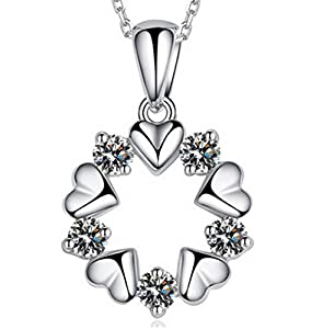 Private Twinkle 925 Sterling Silver Flower Crystal Pendant